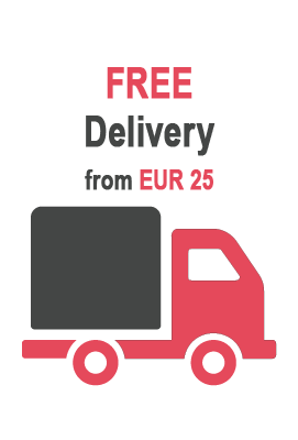 Free delivery from EUR 25